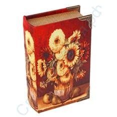 Книга сейф с ключом Натюрморт с подсолнухами
