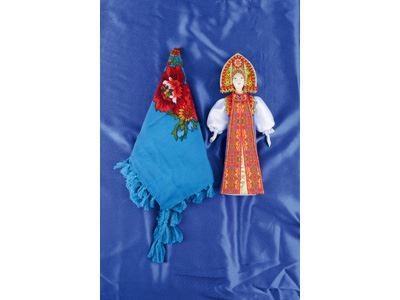 Набор Марфа: кукла в народном костюме, платок