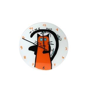 Часы настенные «Красный кот»