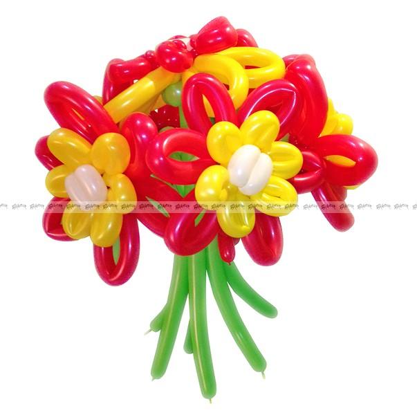 Необыкновенные маргаритки букет из шаров