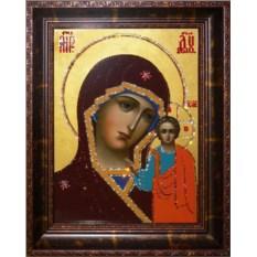 Икона с кристаллами Казанская икона Божией Матери