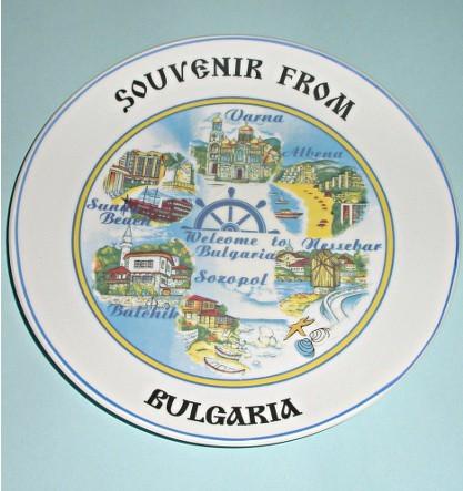 Сувенирная тарелка Болгария