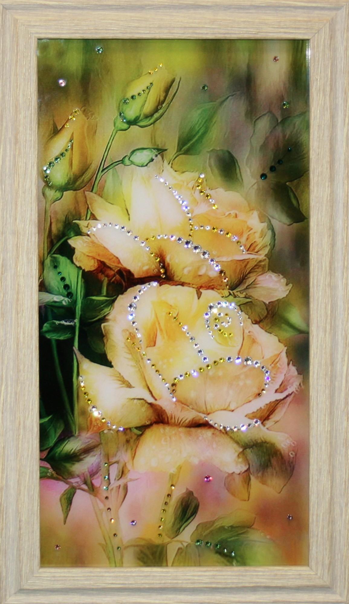Картина Swarovski Розы