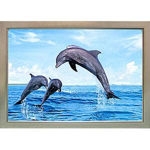 Объёмная 3D картина «Летающие дельфины»