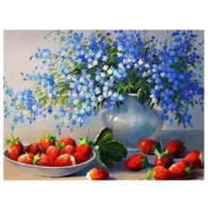 Картина-раскраска по номерам на холсте Радости лета