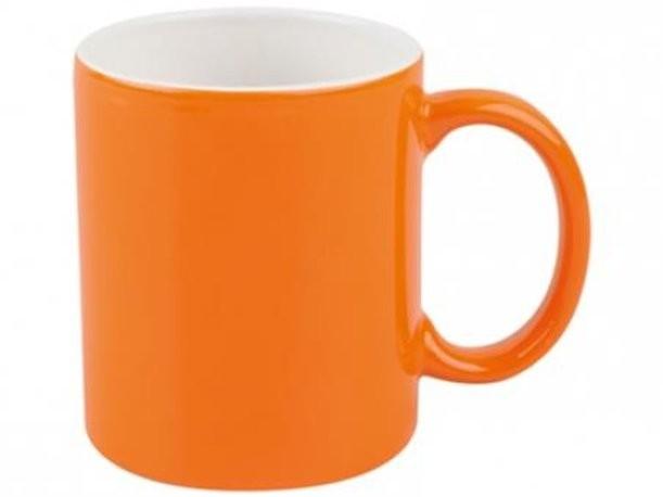 Бело-оранжевая кружка на 320 мл