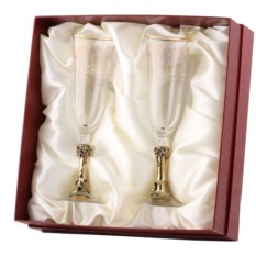 Бокалы для шампанского в картонной коробке Виноград