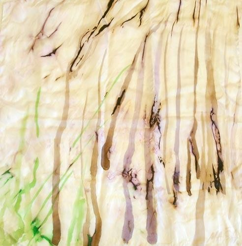 Платок шёлковый Лес