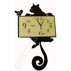Настенные часы Кошка