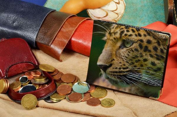 Портмоне с принтом Морда леопарда