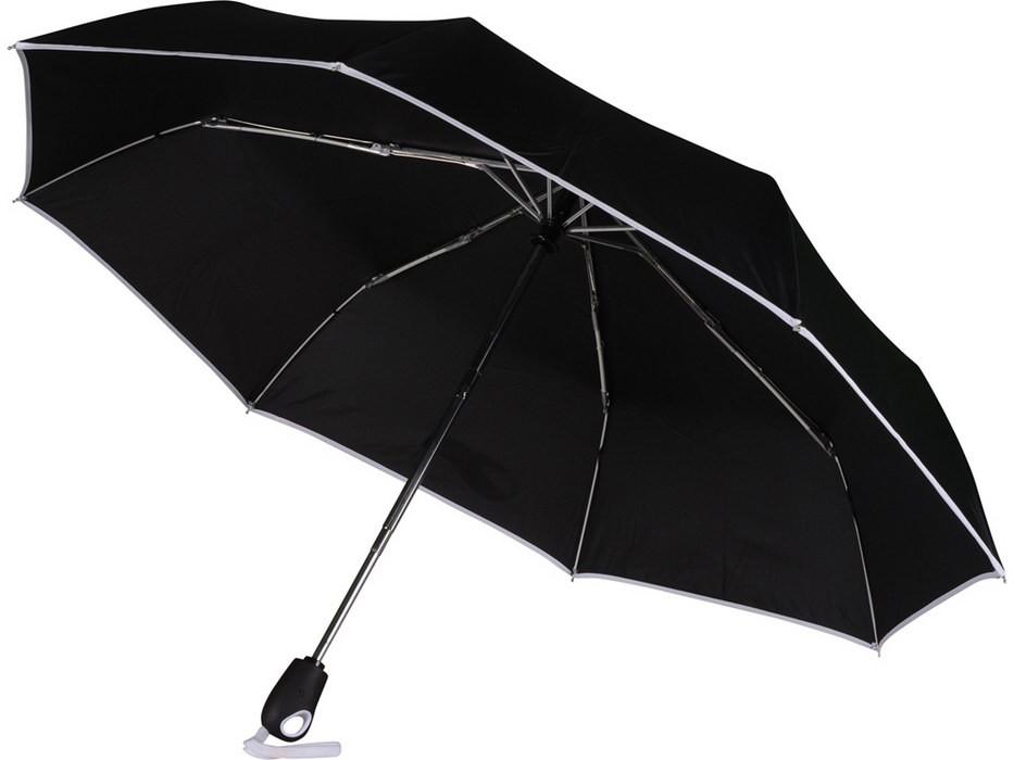 Складной автоматический зонт, с белой окантовкой
