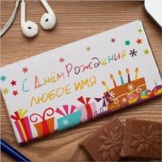 Шоколадная открытка С Днем рождения!