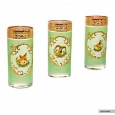 Набор стаканов для воды Охота зеленая Bohemia