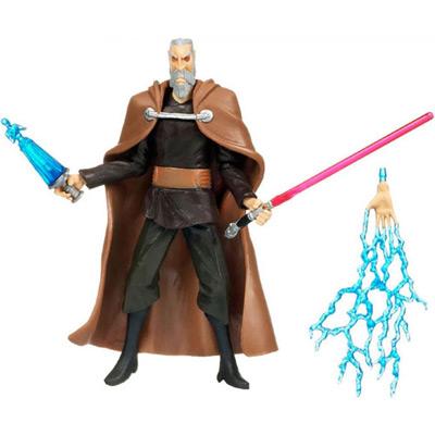 Граф Дуку со световым мечом и молниями Силы