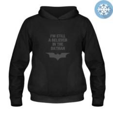 Теплая толстовка-кенгуру I'm still a believer in the Batman