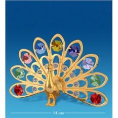 Фигурка с кристаллами Swarovski Павлин