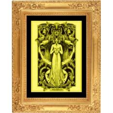 Картина из золота Водолей