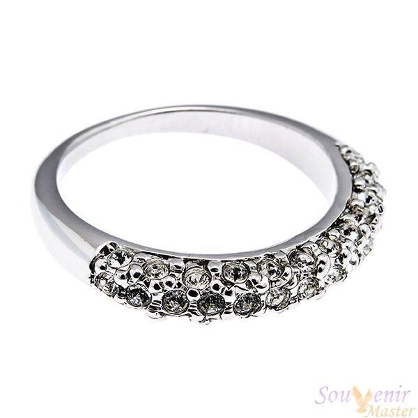 Кольцо с кристаллами Swarovski Дива, маленькое