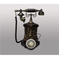 Ретро-телефон из дерева и полистоуна