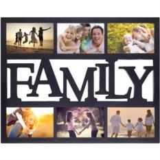 Мультирамка с вашим фото Family (цвет — чёрный)