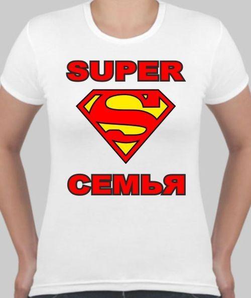 Женская футболка Супер семья