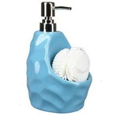 Дозатор для моющего средства с губкой (цвет — голубой)