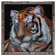Картина с кристаллами Swarovski Тигр в багете
