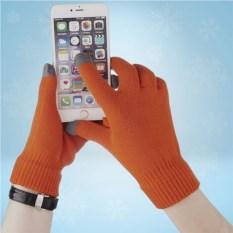 Оранжевые сенсорные перчатки