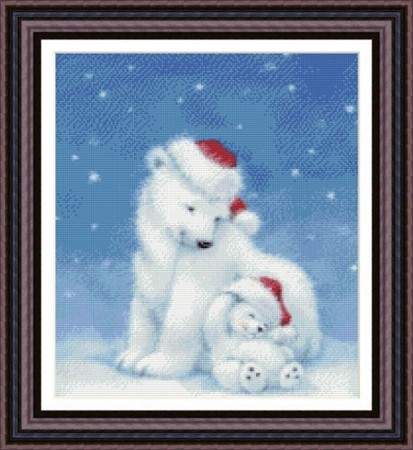 Набор для вышивания Рождество полярных медведей