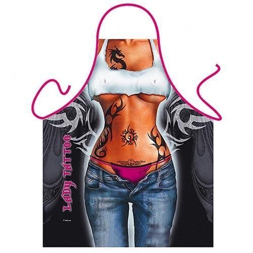 Фартук прикольный Lady Tattoo