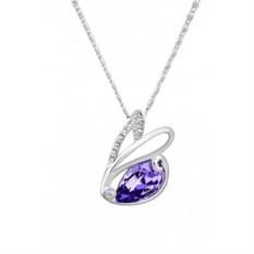 Кулон с фиолетовым кристаллом Сваровски «Зайчик»