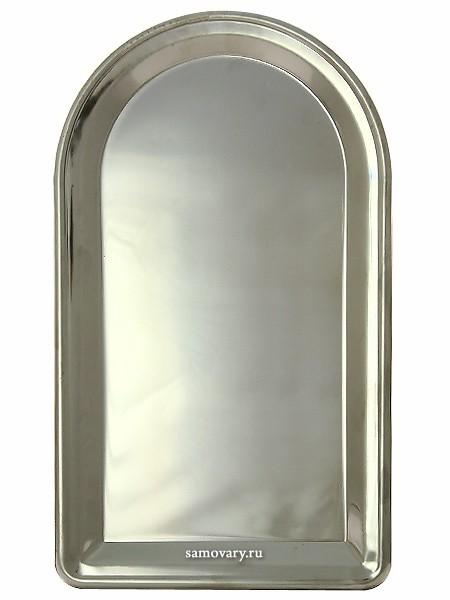 Тульский удлиненный поднос для самовара из нержавеющей стали
