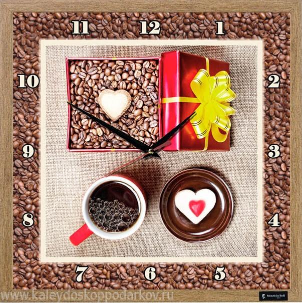 Настенные часы из песка Кафе