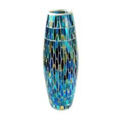 Голубая декоративная ваза Мозаика
