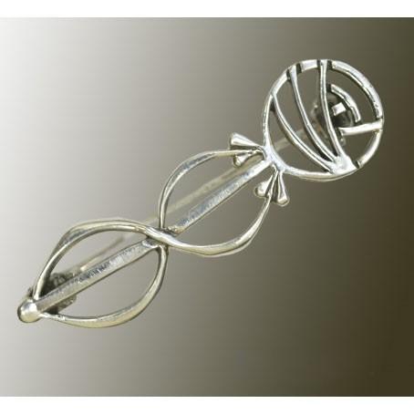 Серебряная брошь «Роза в стиле ар деко»