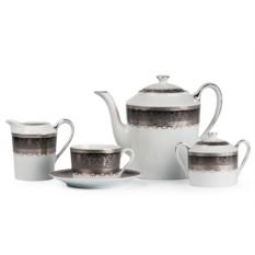 Фарфоровый чайный сервиз PRAGA GRIS MIMOSA, PRAGUE GRIS