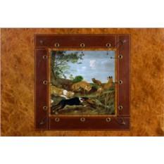 Картина из кожи Лисья охота Пауль де Вос