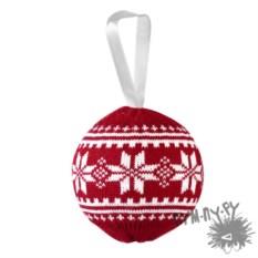 Новогодний красный шар «Скандик»