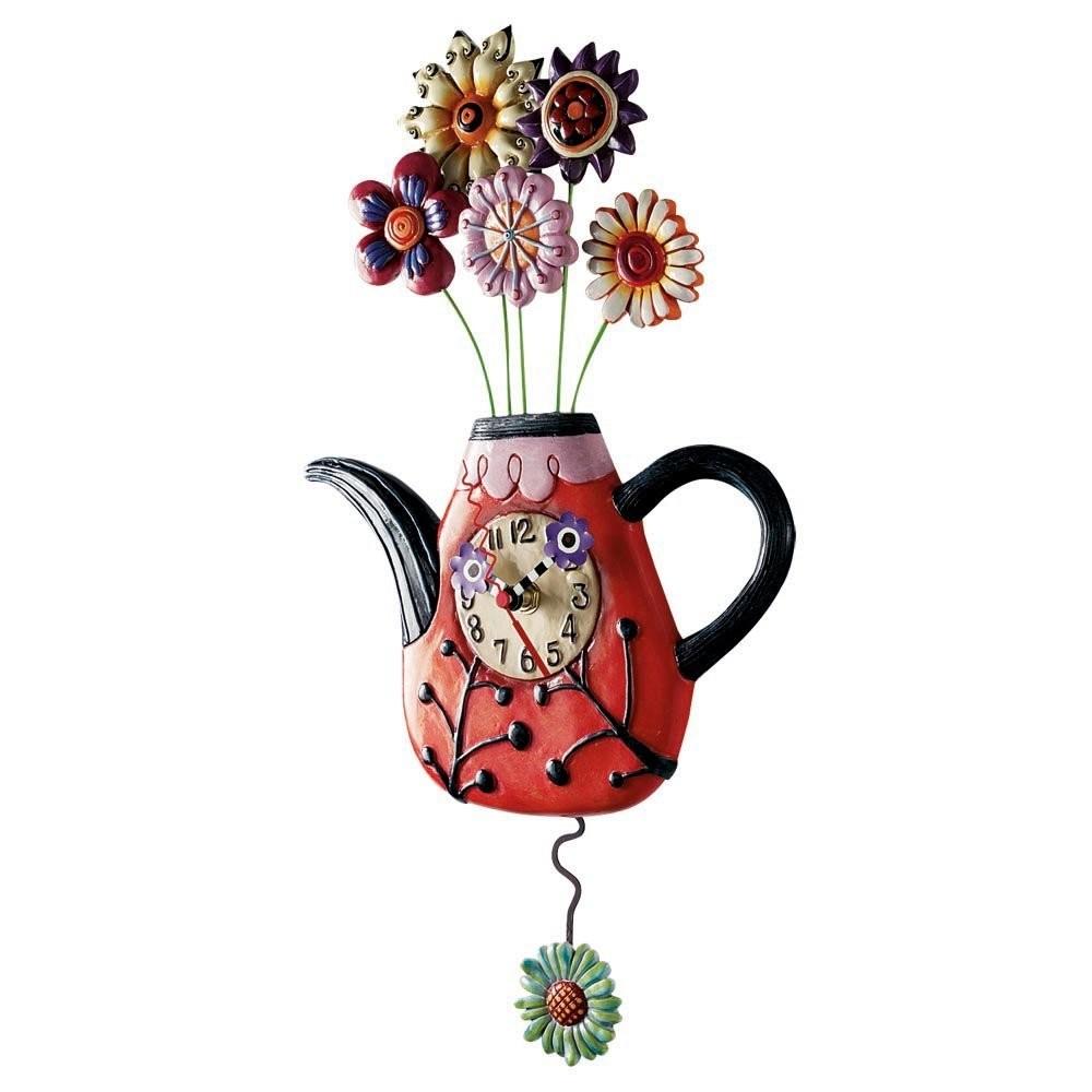 """Часы """"Полный чайник цветов"""""""