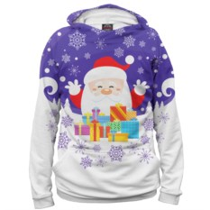 Женское худи Дед Мороз с подарками