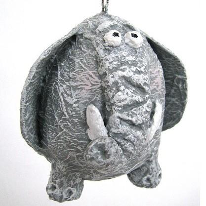 Авторская елочная игрушка «Слоненок»