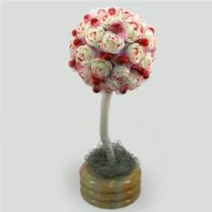 Дерево-топиарий из коралла Свадебное