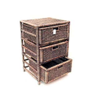Тумба бамбук 3 ящика