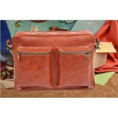 Светло-коричневая кожаная сумка коллекции Gianni Conti