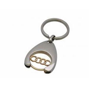 Брелок Audi (золото+хром)