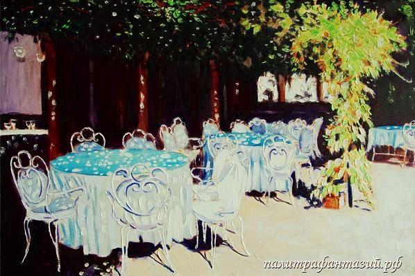 Картина Уютное кафе в Майори