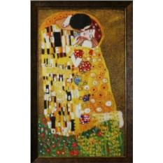 Картина с кристаллами Swarovski Поцелуй Климт