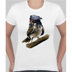 Женская футболка Воробей