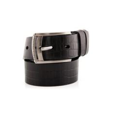 Черный мужской кожаный ремень тип 40-6