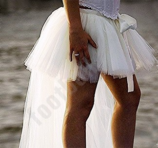 Юбка пачка для девичника со шлейфом